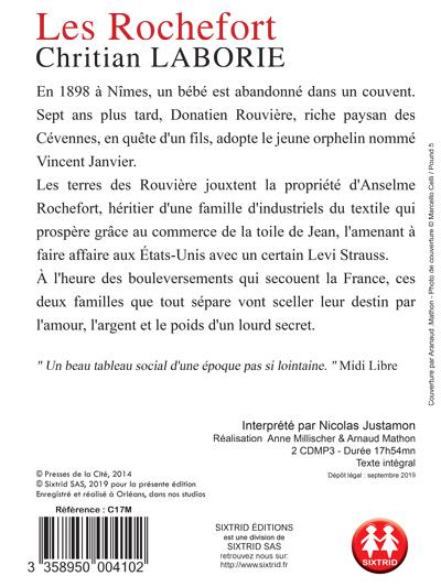 Livre Audio Les Rochefort De Christian Laborie Sixtrid